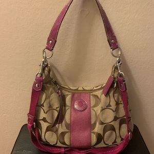 Khaki Berry Coach Bag